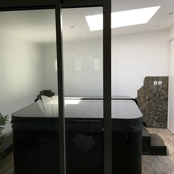 Aménagement d''un garage en espace Spa à Binic