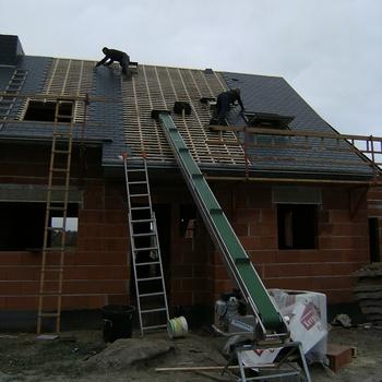 Couverture ardoise sur maison neuve à Plédran - Côtes d''Armor