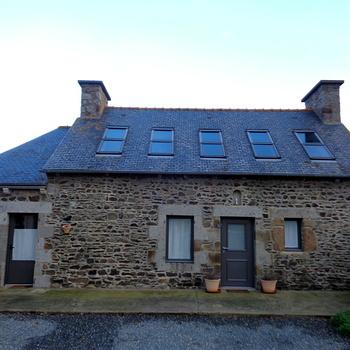 Fenêtres alu et porte d''entrée gris 2900 sablé à Pordic (22)