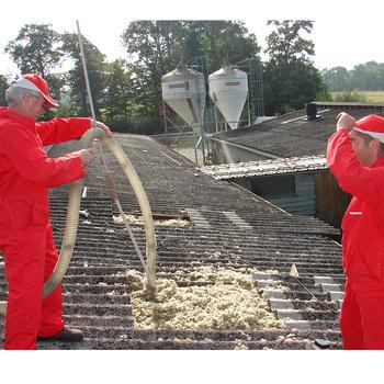 Isolation de bâtiment agricole en toiture
