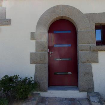 Porte d''entrée cintée à Trégueux