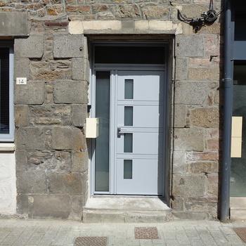 Porte d''entrée tiercée en aluminium à Lamballe