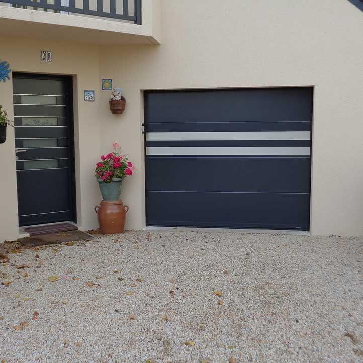 Porte d 39 entr e et porte de garage en r novation ploufragan 22 - Porte de garage et porte d entree ...