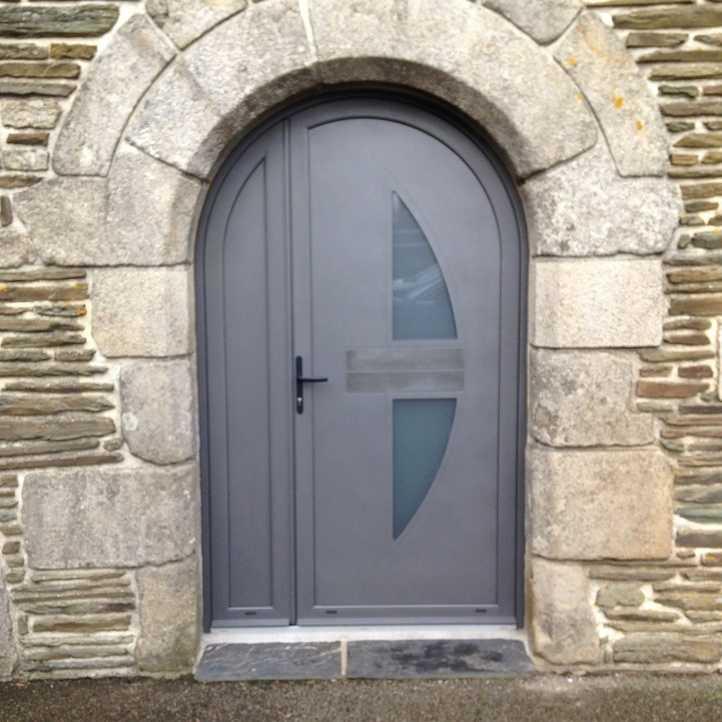 Porte d 39 entr e alu porte tierc uzel - Porte entree tierce ...