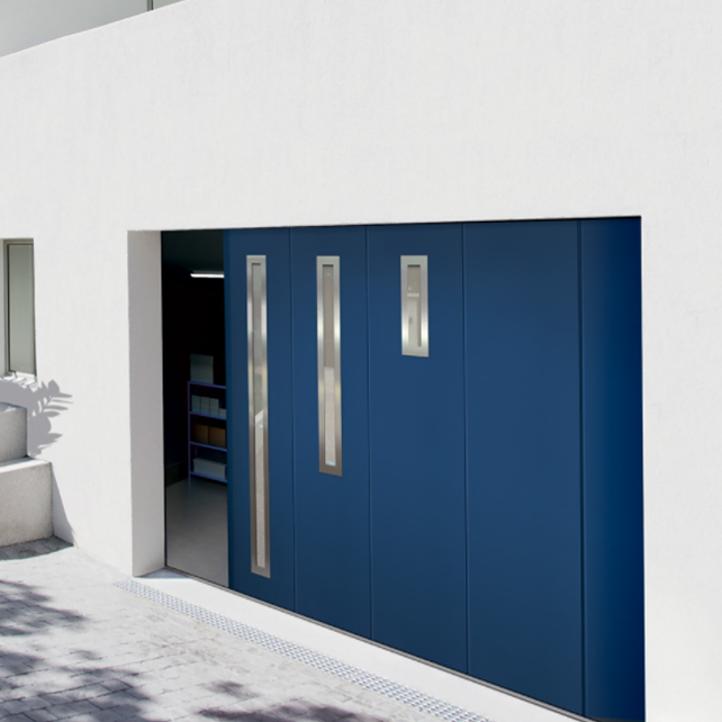 Les portes de garage refoulement lat ral - Porte de garage a refoulement plafond ...