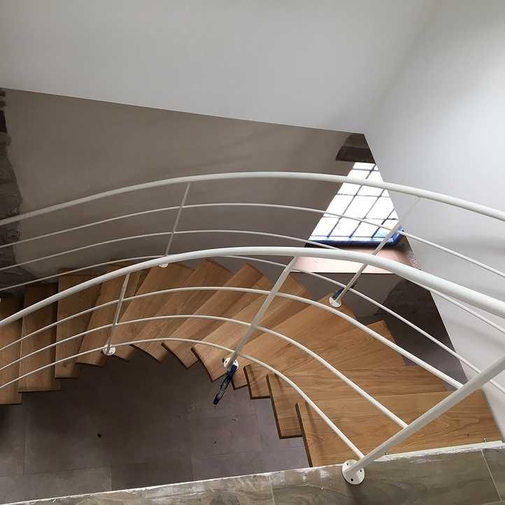 realisation d un bel escalier - le gouray